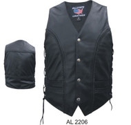 MEN'S BRAIDED VEST WITH SIDE LACES