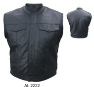 MEN'S DENIM STYLE LEATHER VEST