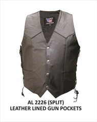 MEN'S SINGLE PANEL VEST WITH TWO GUN POCKETS