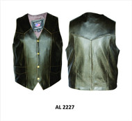 MEN'S RETRO BROWN PLAIN VEST