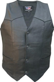 Men's basic Naked Buffalo Leather vest