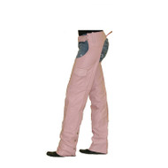 Pink Leather Chaps With Mesh Lining