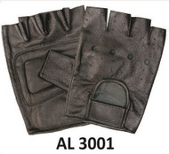 Allstate Leather 3001 Leather Fingerless Gloves