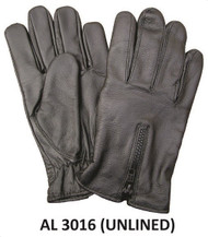 Allstate Leather 3016 Unlined Gloves with Zippered Back