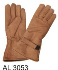 Allstate Leather 3053 Brown Leather Gauntlet Gloves