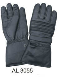 Allstate Leather 3055 Padded Leather Riding Gloves