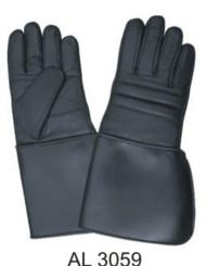 Allstate Leather 3059 Padded Riding Gloves with PVC Cuff
