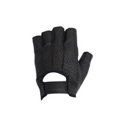 Leather Open Finger Motorcycle Gloves With Velcro Strap