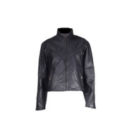 Womens Naked Cowhide Braided Racer Jacket