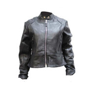 Womens Leather Jacket With Z/o Lining
