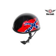 Black Rebel Flag Novelty Motorcycle Helmet
