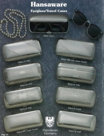 metal eyeglass case Made in Germany