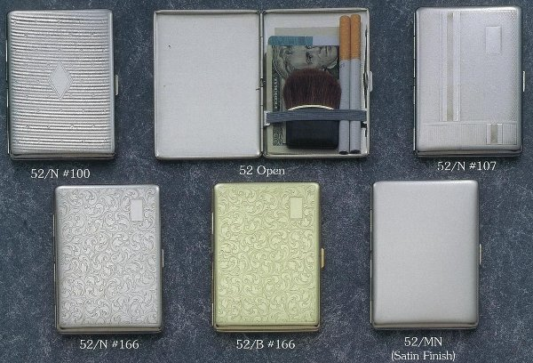 on sale b7ce2 bfab3 Ultra Slim Case: 100's Cigarette Case Large Metal Wallet