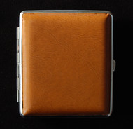 Large Patent Brown Leather Personal Case