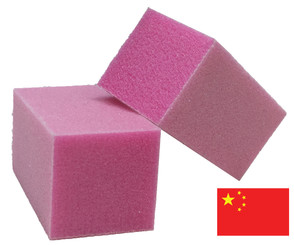 Pink Half Block with Glitter: 150 grit