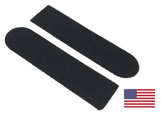 "Disposable Black Pedicure Abrasive Sticker: 1"" x 3-3/4"""