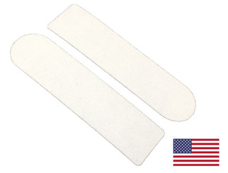 "Disposable White Pedicure Abrasive Sticker: 1"" x 3-3/4"""