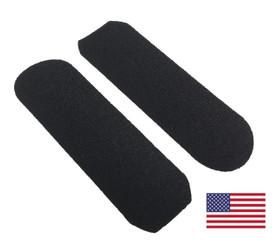 "Disposable Black Pedicure Abrasive Sticker: 1-5/16"" x 4"""