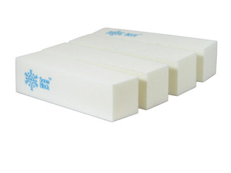 SnowBlock - 4-Sided White Manicure Buffer Block