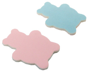 Pink/Lt. Blue Teddy Bear Shape (MF)