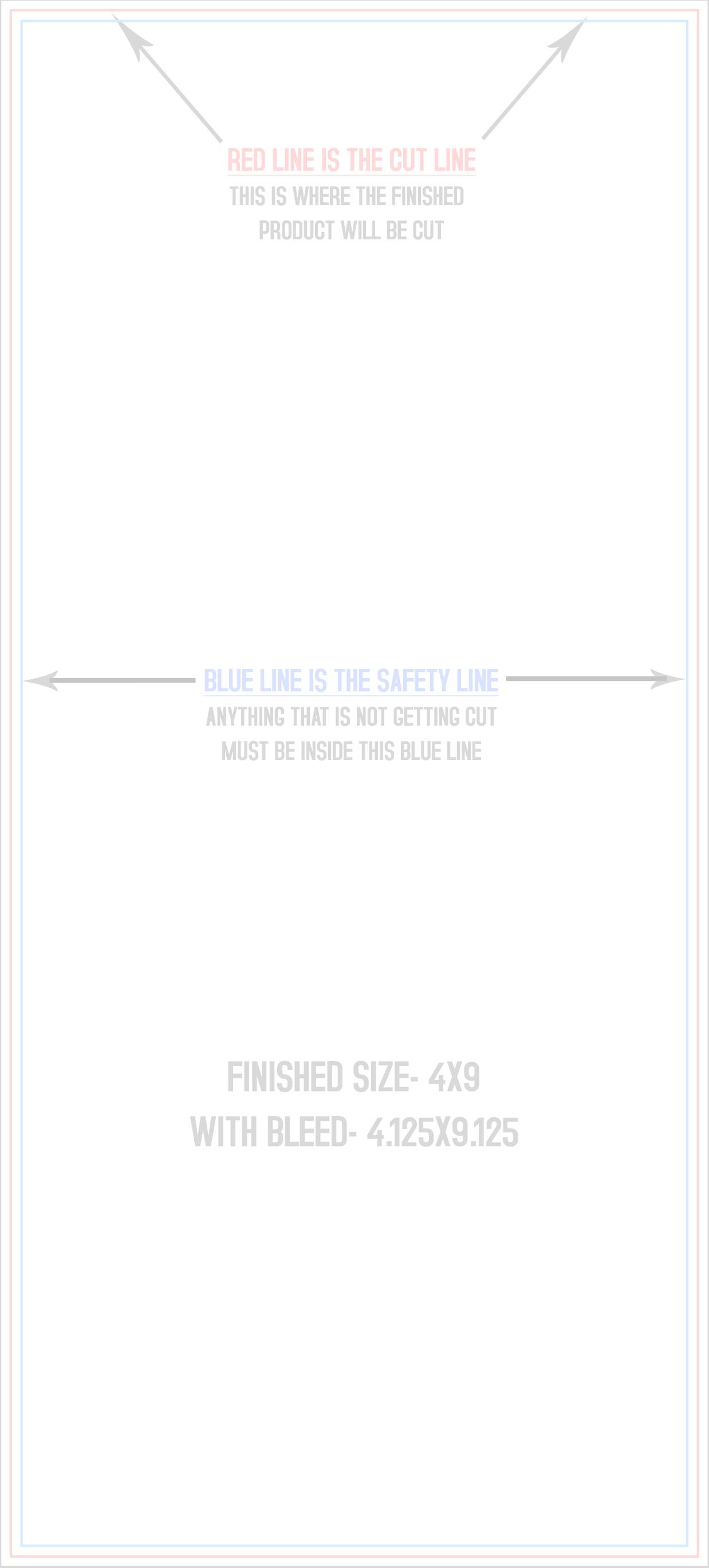 4x9 Full Color Rack Card Printing Matte or Gloss Coating Free