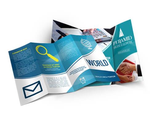 Premium Full Color Brochures / Menus 100 lb. Txt