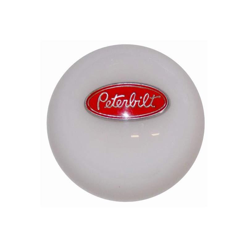 knob trailer screw on red glossy sticker for Kenworth Peterbilt Freightliner