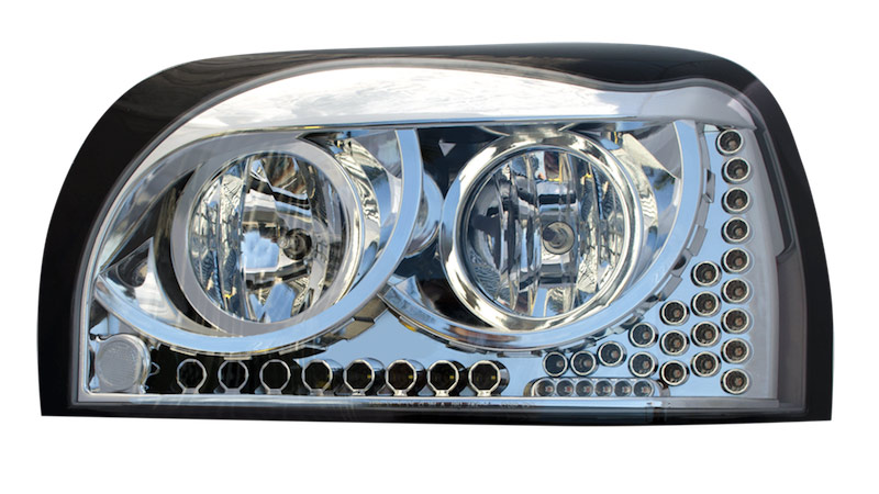 Freightliner Century Headlights With LED Turn Signal & Running Light
