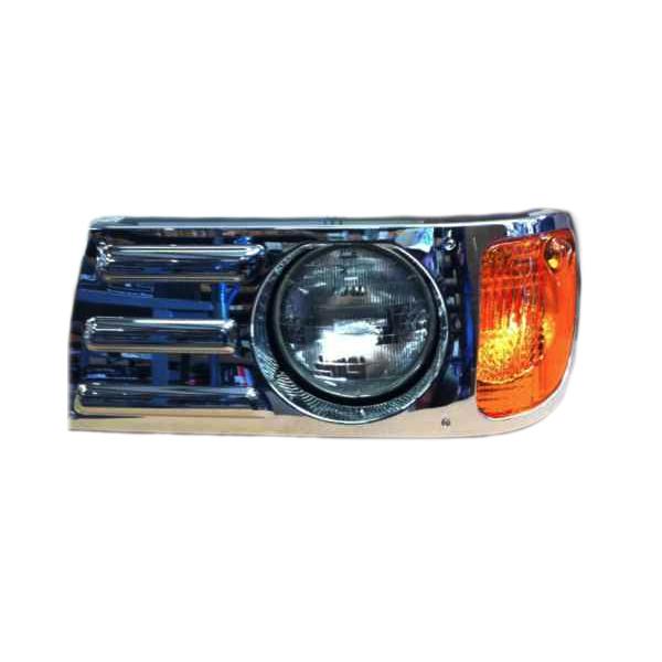 Mack Granite CV713 Vision Aftermarket Headlight Assembly Set Chrome