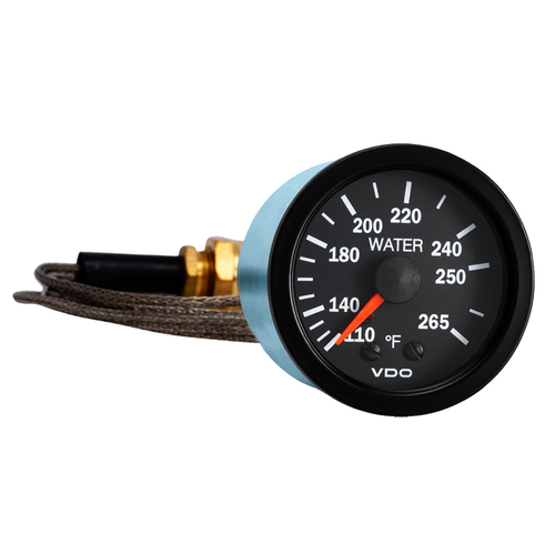 semi truck mechanical water temperature gauge with capillary vision rh raneystruckparts com Corvette Temperature Gauge Resistor Temperature Gauge Wiring