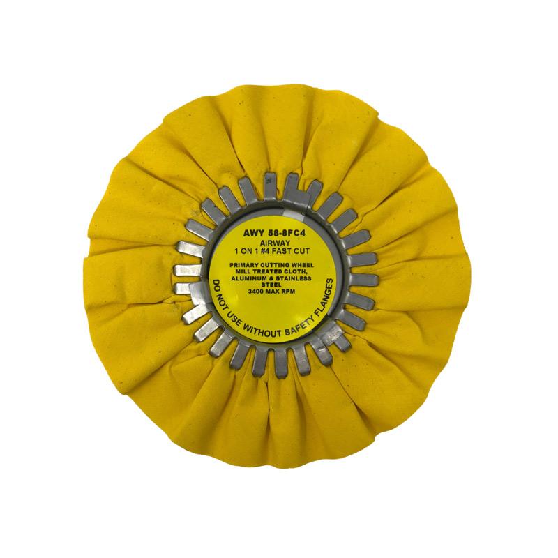 Zephyr Yellow #4 Fast Cut Airway Buffing Wheel 8