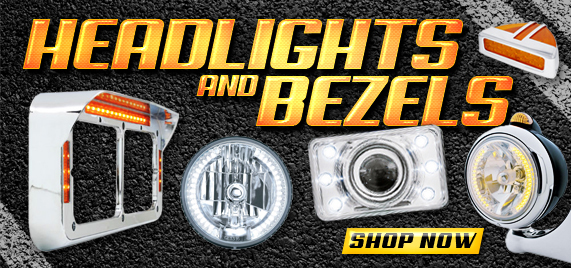 Semi Truck Headlights and Bezels