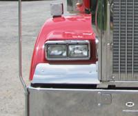 Kenworth W900B Curved Glass Fender Guard