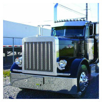 Peterbilt 379 Extended Hood Front Grill With Oval Punchouts Mounted