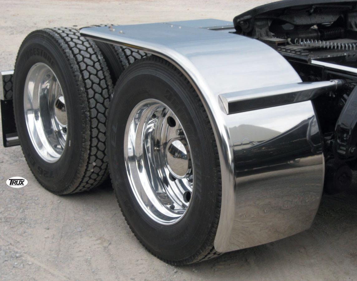 Half Fenders For Trucks : Stainless steel quot rollin lo half fenders raney s truck