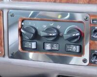 Peterbilt 379 A/C & Heater Control Panel Trim 2001-05 By RoadWorks