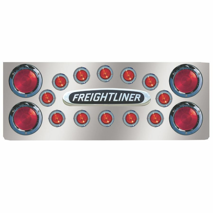 "Freightliner 14"" Rear Center Panel With LEDs & Logo Holes"