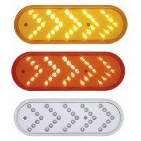Oval Sequential Turn Signals With Reflector - Three Color Choices