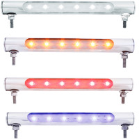 6 LED Stainless Steel License Plate Tube Lights