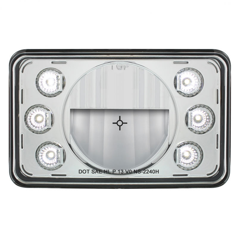 Rectangular Headlights LED 165mm Crystal Headlight High Beam