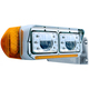 Rectangular Headlights LED 165mm Crystal Headlight On Truck