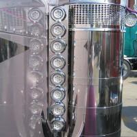 "Peterbilt 379 Front Air Cleaner Light Bar With 2"" LEDs & Chrome Bezels"