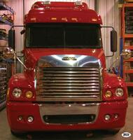 Freightliner Century Louvered Grill & Surround with Bug Shield Combination