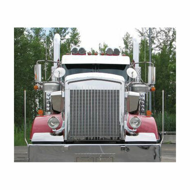 Kenworth W900l Hoodshield Bug Deflector Stainless Steel