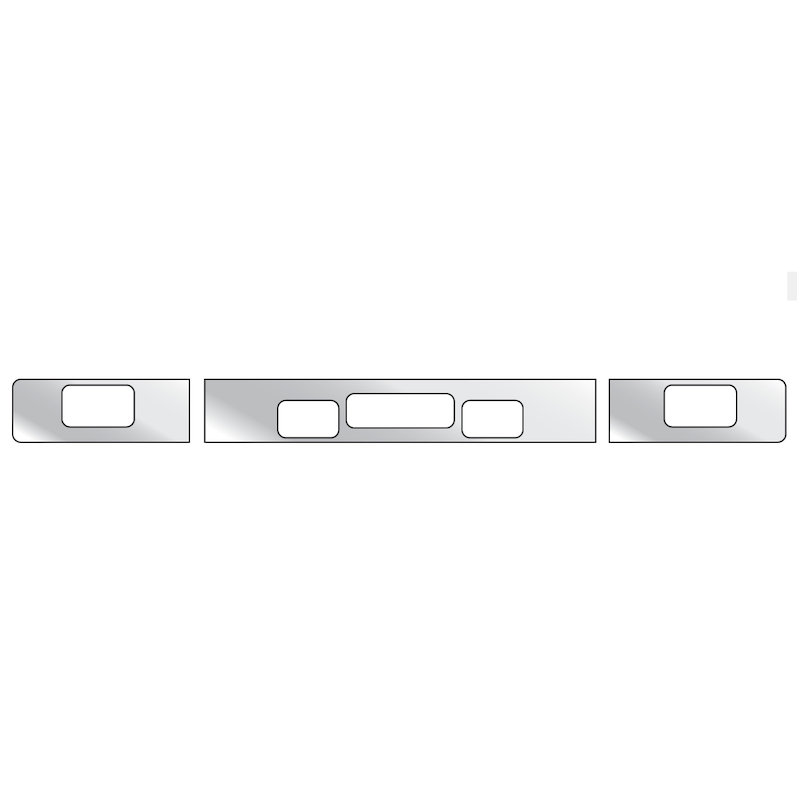 Freightliner FLD Bumper Trim With 2 Step, Tow Pin Holes, & Fog Light Holes