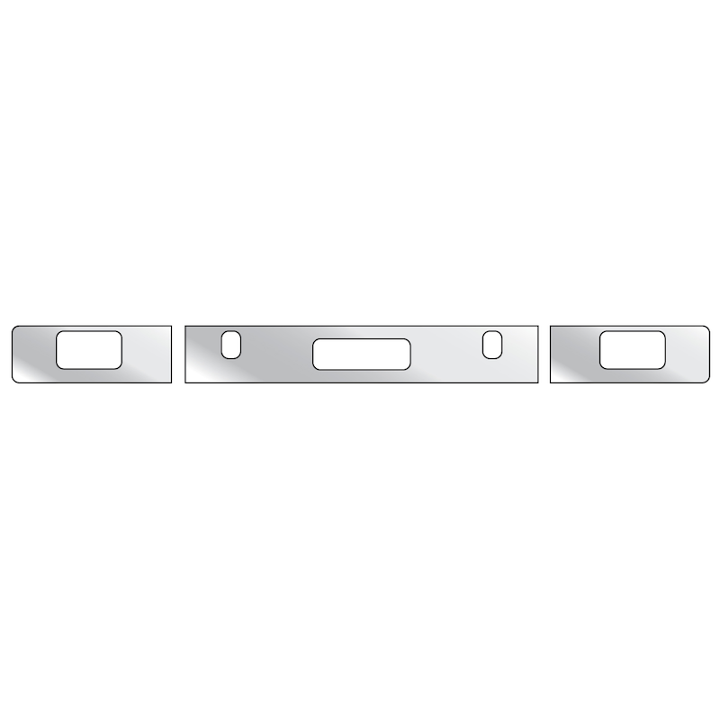Freightliner FLD Bumper Trim With 1 Step, 2 Tow Pin Holes, & Fog Light Holes