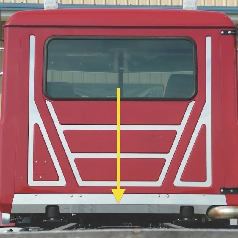 Mack Granite CV713 Lower Rear Cab Filler Dual Exhaust