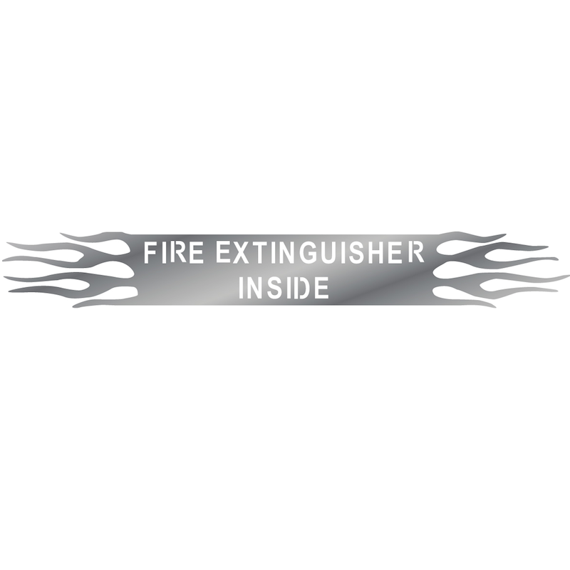 Universal Fire Extinguisher Inside Sign With Flames By