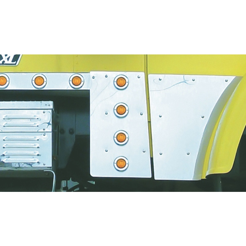 Freightliner Classic Cowl Extensions With Flat LED Lights & Bezels