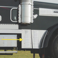 Freightliner Classic Louvered Cowl Extensions
